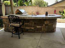 kitchen rock island custom outdoor kitchen with rock backyard designs