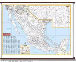 wall maps deluxe laminated wall map of mexico 69 x54 1 75m x 1 37m 25986