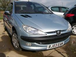 blue peugeot for sale peugeot 206 glx 1 4 met blue service history 2003 reg for sale