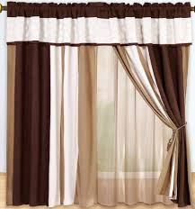 White And Brown Curtains Modern Curtains For Your Living Room Hometone Home Automation