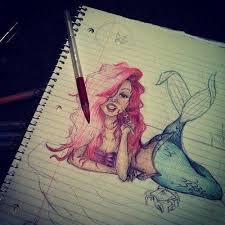drawing ariel mermaid art ariel