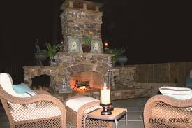Outdoor Chimney Fireplace by Fireplace Kits Outdoor Fireplaces And Pits Daco Stone
