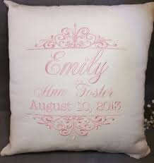 personalized pillows for baby birth announcement baby pillow baby pillow embroidered baby