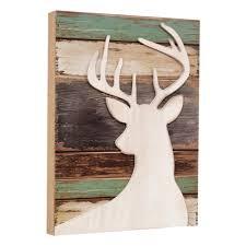 deer wood silhouette wall craft ideas