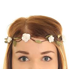 claires hair accessories small white roses hair garland s