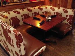 Dining Room Booth by Cowhide Design On A Dining Room Booth Picture Of La Hacienda