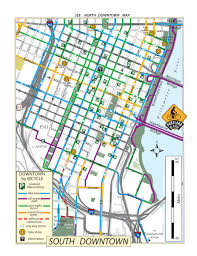 Downtown Portland Map downtown bike parking map2 the street trust