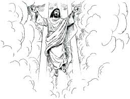 coloring page of jesus ascension christmas coloring pages jesus cliptext co