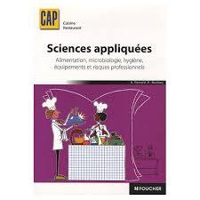 livre cap cuisine appliquées cap cuisine restaurant alimentation microbiologie