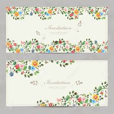 Designs For Invitation Card Cute Floral Invitation Cards For Your Design Royalty Free Cliparts