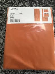 Ikea Curtains Vivan by Orange U0027vivan U0027 Ikea Curtains New In Original Packaging In