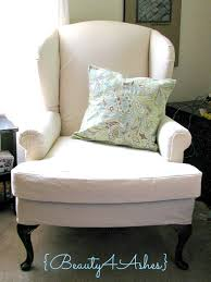 How To Reupholster A Wingback Armchair Beauty 4 Ashes How To Fake Upholster A Wingback Using Staples And