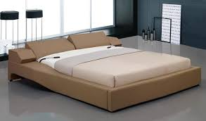 electronic reclining brown headboard bed with storage nightstands