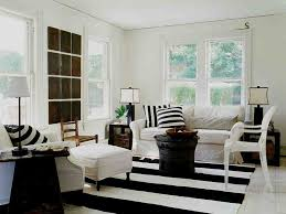 Black And White Chair And Ottoman Design Ideas Shabby Chic Living Room Ideas With Coffee Table And Striped
