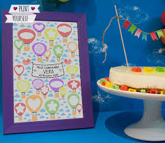 birthday signing board hot air balloon guest book printable pdf oh the places you