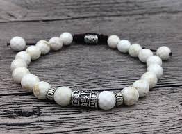 silver charm bead bracelet images Black white matching stone beads bracelet tibetan silver charms jpg