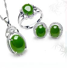 jade ring necklace images Sn j 009 s925 silver jade jewelry full set with jade pedant jpg