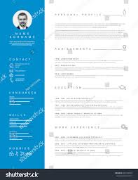 Blue And Gr by Vector Minimalist Cv Resume Template Nice Stock Vector 466193993