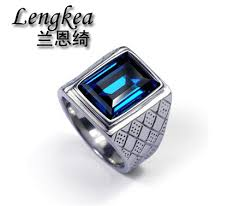 blue crystal rings images Men rings men square blue crystal ring original design ring boys jpg
