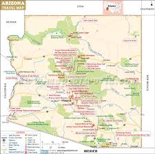 Arizona natural attractions images Maps update 18851573 arizona travel map arizona travel jpg