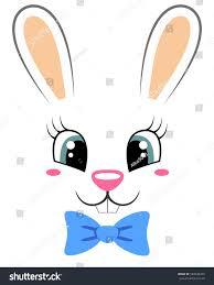 cute bunny butterfly tie print rabbit stock vector 584546479
