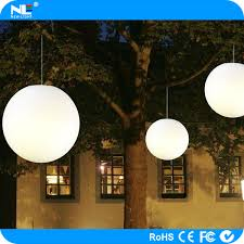color changing outdoor led hanging light balls and