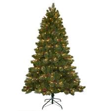 Home Depot Christmas Tree Lights - national tree company 9 ft cashmere cone and berry decorated
