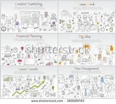 design management careers doodle line design web banner templates stock vector 380009785