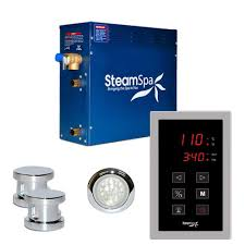 steam showers showers the home depot indulgence 10 5kw touch pad steam bath generator package in chrome