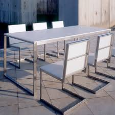 modern outdoor table and chairs gandia blasco mesa luna modern outdoor dining table stardust