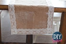 how to make burlap table runners for round tables diy burlap and lace table runner tutorial diy swank