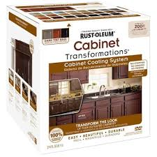 rustoleum kitchen cabinet paint rust oleum cabinet transformations base satin cabinet resurfacing kit lowes