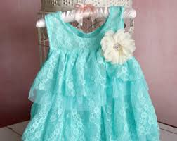 mint baby dress etsy