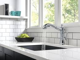 Black Kitchen Faucet With Sprayer Delta Faucet 4197 Ar Dst Cassidy Single Handle Pull Out Kitchen