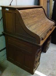 Antique Wooden Office Chair Antique Oak Roll Top Desk Auction Items Pinterest Desks