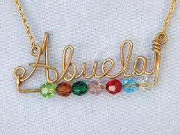 grandmother necklace grandmother necklace your name with a twist