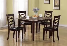 Marble Dining Room Table And Chairs Piece Counter Height Dining Room Set 19196 5 Set At Beyond Stores