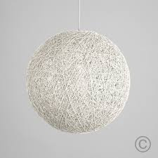 light modern large white lattice wicker rattan globe ball style