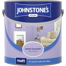 johnstone u0027s sweet lavender emulsion paint 2 5l matt 304035