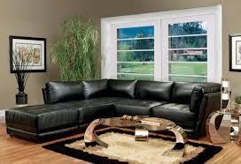 Modern Sofa Living Room Living Room Design With Black Leather Sofa Design Ideas