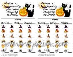 Halloween Templates Free Printable Frightful Halloween Bunco Score Cards