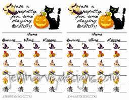 frightful halloween bunco score cards