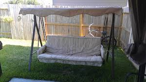 Garden Winds Replacement Swing Canopy by Lowes Garden Treasures 3 Person Cushion Traditional Swing
