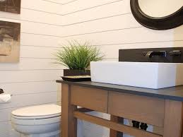 farmhouse table ideas horizontal wood wall paneling bathroom