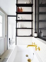 Black Bathroom Shelves 15 Exquisite Bathrooms That Make Use Of Open Storage