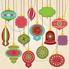 vector collection of retro christmas ornaments u2014 stock vector