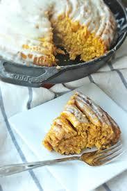 giant pumpkin cinnamon roll with maple glaze