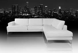 Modern White Bonded Leather Sectional Sofa Modern White Leather Sofa Roselawnlutheran
