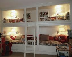 Wall Bunk Beds Bunk Beds Built Into Wall Plans Home Design Ideas In Addition To