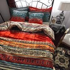 bohemian comforter set amazoncom with dodou queen boho style bedding set boho duvet cover set bohemian bedding set  pcs from amazoncom